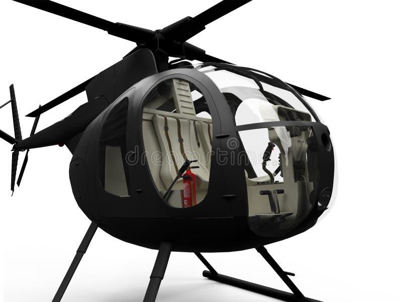 απομονωμένη ελικόπτερο όψ& ελεύθερη απεικόνιση δικαιώματος