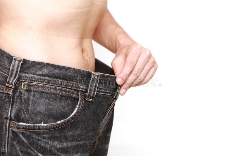 απομονωμένη λευκή γυναίκα βάρους κορμών μέτρου απώλειας στοκ εικόνες με δικαίωμα ελεύθερης χρήσης