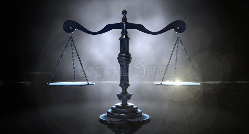 απομονωμένη δικαιοσύνη πέρα από το λευκό κλιμάκων στοκ φωτογραφίες με δικαίωμα ελεύθερης χρήσης