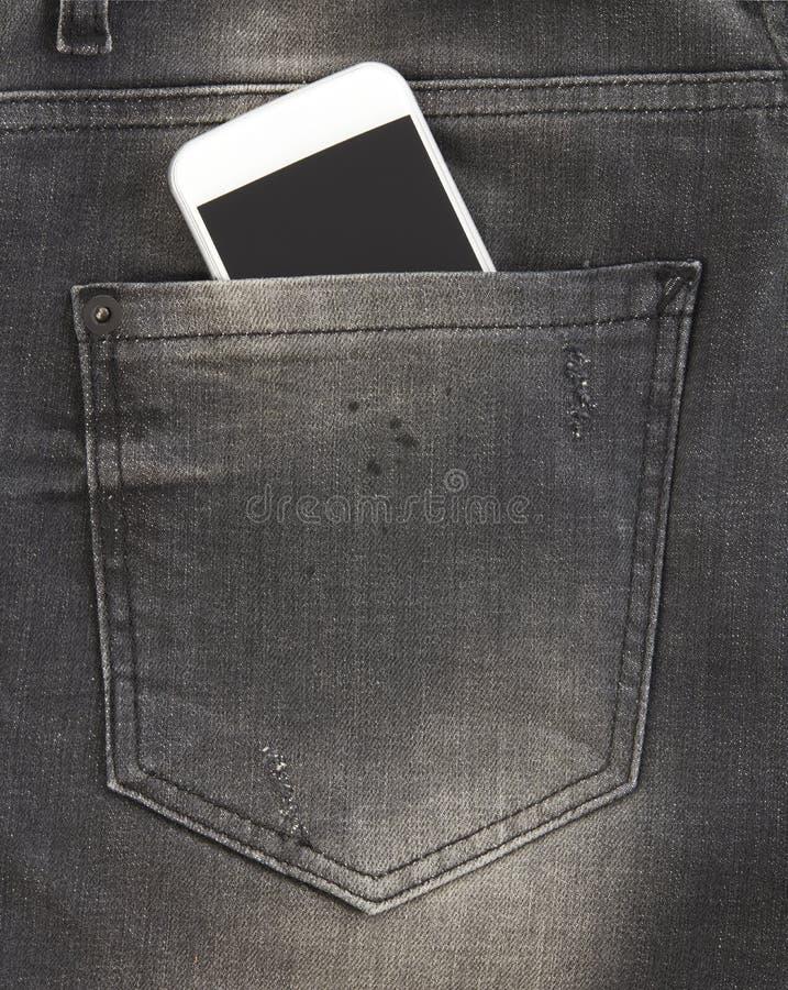 απομονωμένη κινητή τηλεφωνική τσέπη ασημένιο λευκό στοκ εικόνες