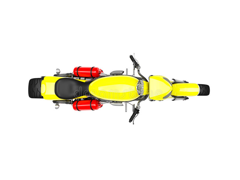 απομονωμένη κορυφαία όψη moto απεικόνιση αποθεμάτων