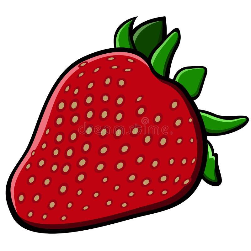 Απομονωμένη κωμική φράουλα ελεύθερη απεικόνιση δικαιώματος