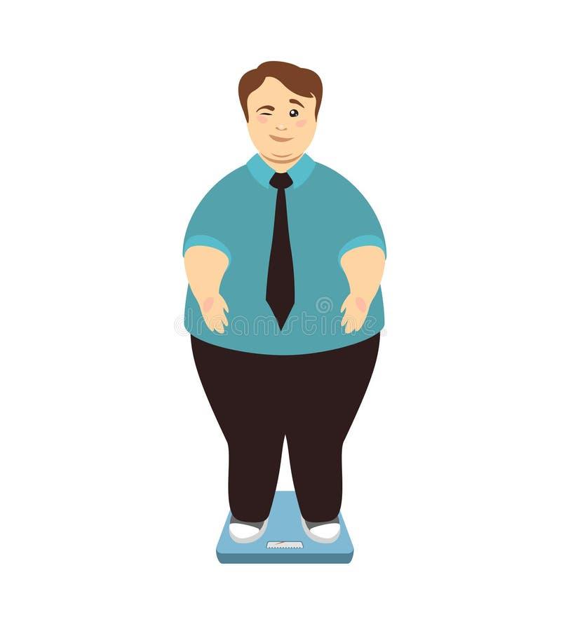 απομονωμένη λευκή γυναίκα βάρους κορμών μέτρου απώλειας Το υπέρβαρο άτομο στις κλίμακες κλείνει το μάτι ελεύθερη απεικόνιση δικαιώματος