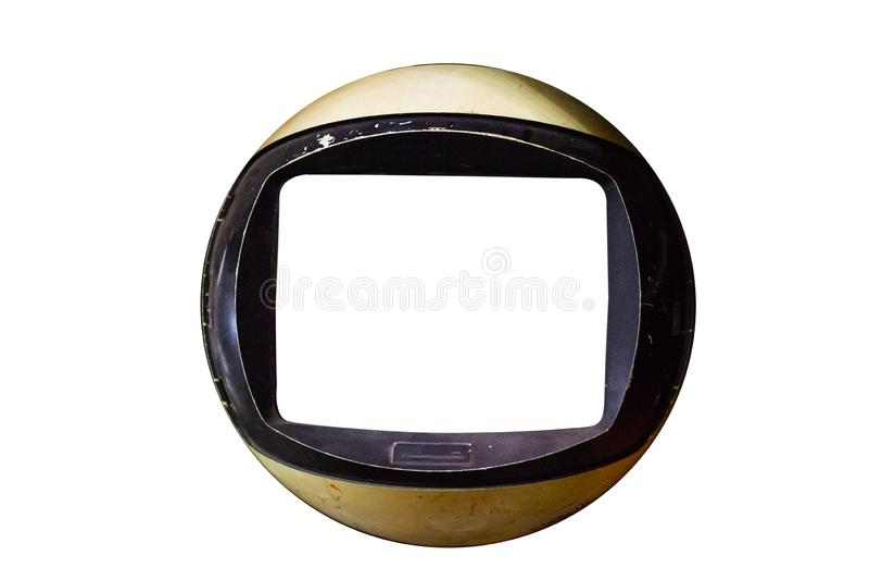 Απομονωμένη παλαιά κλασική εκλεκτής ποιότητας τηλεόραση, παλαιές συλλογές στοκ φωτογραφία με δικαίωμα ελεύθερης χρήσης