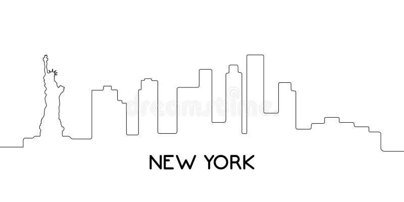 Απομονωμένη περίληψη της Νέας Υόρκης ελεύθερη απεικόνιση δικαιώματος