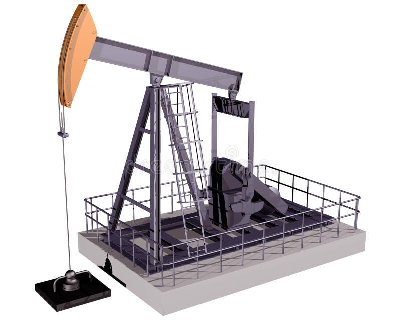 απομονωμένη πλατφόρμα άντλησης πετρελαίου διανυσματική απεικόνιση