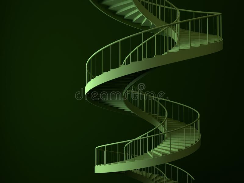 Download απομονωμένη σπείρα strairs απεικόνιση αποθεμάτων. εικονογραφία από σκαλοπάτια - 13180300