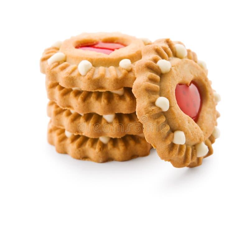 Απομονωμένη στοίβα του μπισκότου στοκ φωτογραφία με δικαίωμα ελεύθερης χρήσης