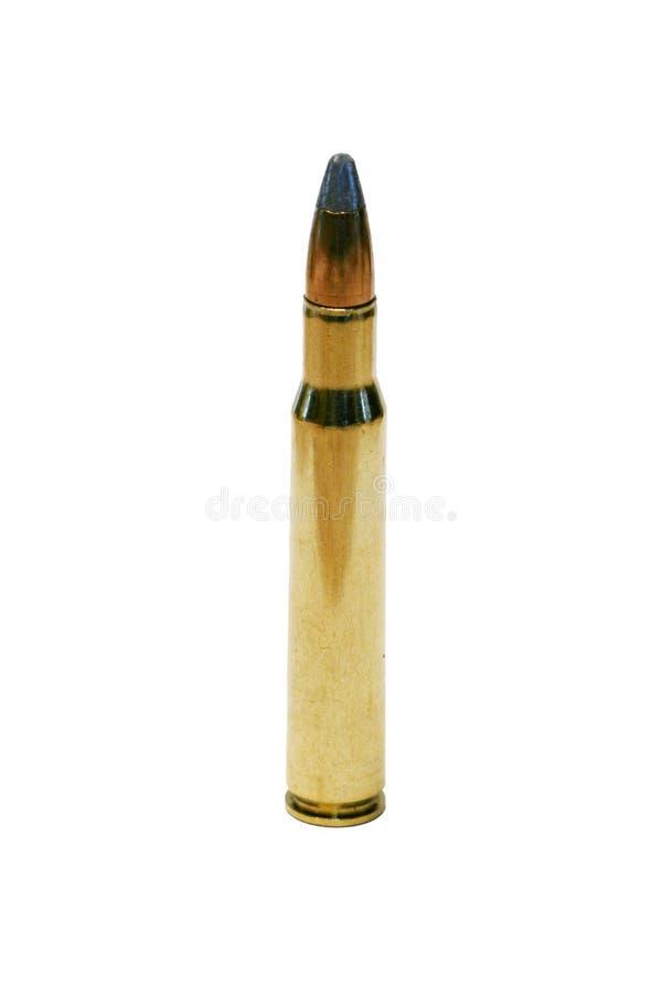 Απομονωμένη σφαίρα 30-06 στο λευκό στοκ εικόνες