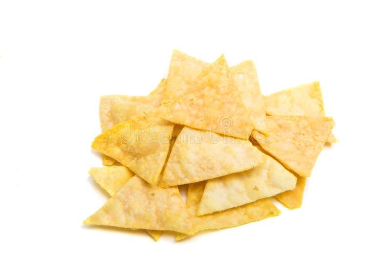 απομονωμένη τσιπ πατάτα στοκ φωτογραφία με δικαίωμα ελεύθερης χρήσης