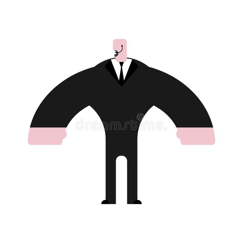 απομονωμένη φρουρά ασφάλεια Σωματοφυλακή στο κοστούμι Ισχυρός υπερασπιστής ελεύθερη απεικόνιση δικαιώματος