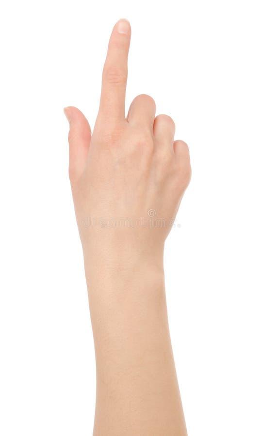 απομονωμένη χέρι αφή οθόνης εικονική στοκ φωτογραφίες με δικαίωμα ελεύθερης χρήσης