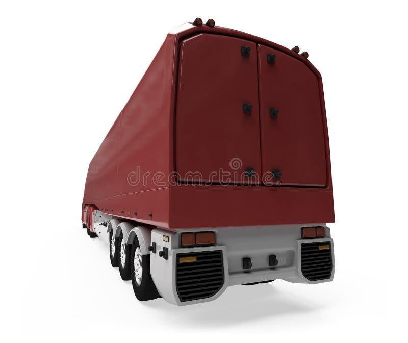 απομονωμένη όψη truck έννοιας φ&omicron διανυσματική απεικόνιση