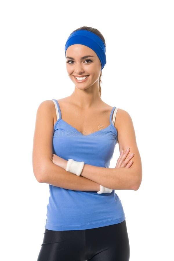 απομονωμένη sportswear γυναίκα στοκ φωτογραφία