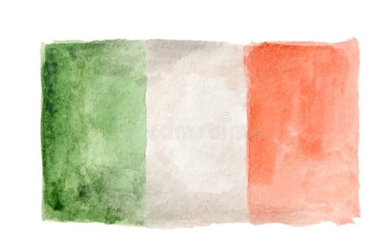 Απομονωμένη Watercolor σημαία στοκ εικόνες
