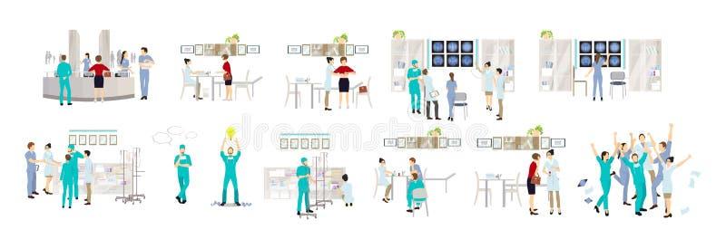 Απομονωμένοι γιατροί καθορισμένοι ελεύθερη απεικόνιση δικαιώματος