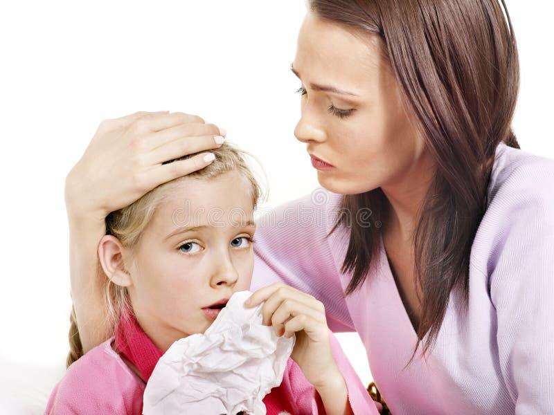 απομονωμένοι παιδί άρρωστ&omi στοκ εικόνες
