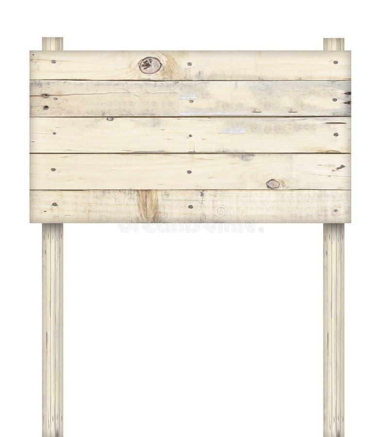 απομονωμένος άσπρος ξύλινος σημαδιών στοκ εικόνες