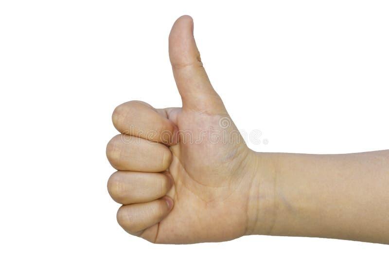 Απομονωμένος αντίχειρας εφήβων επάνω - όπως στοκ εικόνες με δικαίωμα ελεύθερης χρήσης