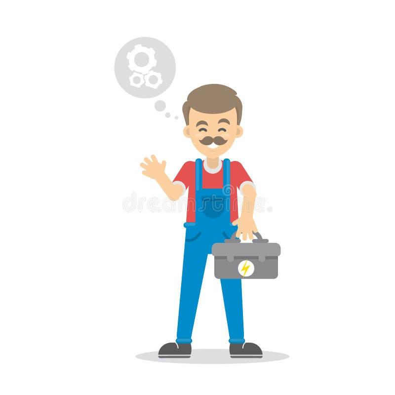 Απομονωμένος αρσενικός ηλεκτρολόγος απεικόνιση αποθεμάτων