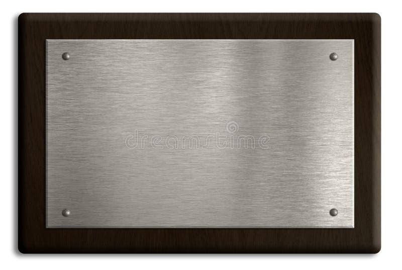 απομονωμένος ασημένιος άσπρος ξύλινος πιάτων πινακίδων στοκ φωτογραφία με δικαίωμα ελεύθερης χρήσης