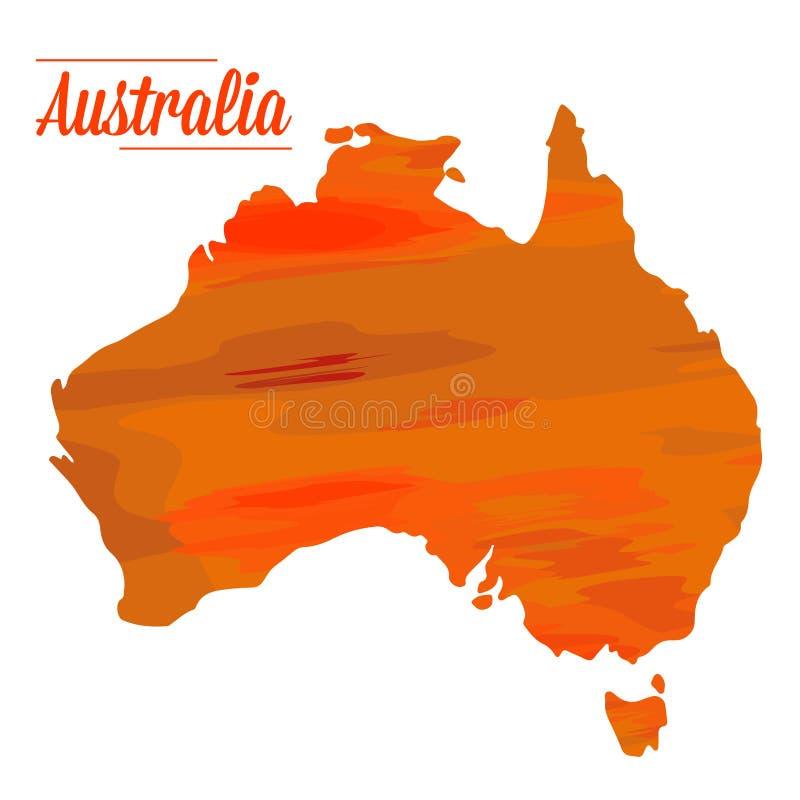 Απομονωμένος αυστραλιανός χάρτης ελεύθερη απεικόνιση δικαιώματος