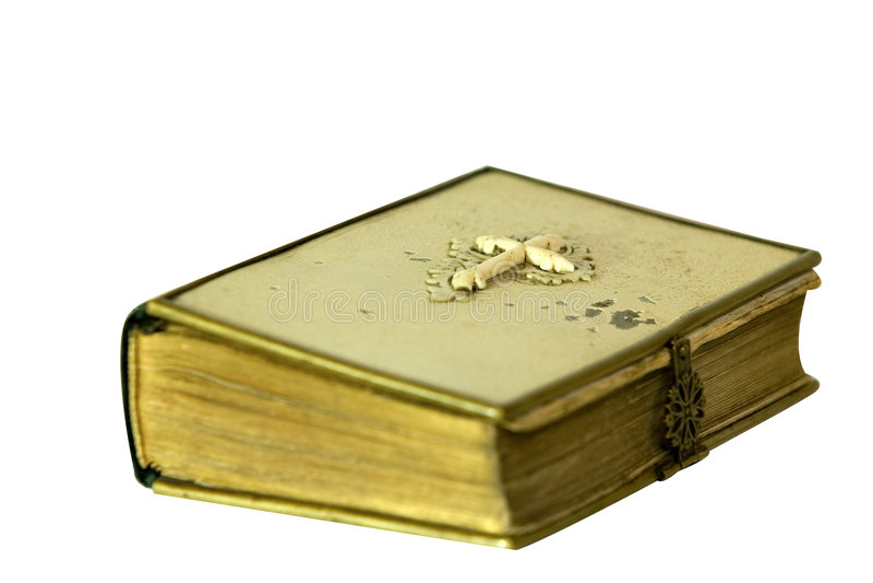 απομονωμένος Βίβλος τρύγος στοκ φωτογραφίες