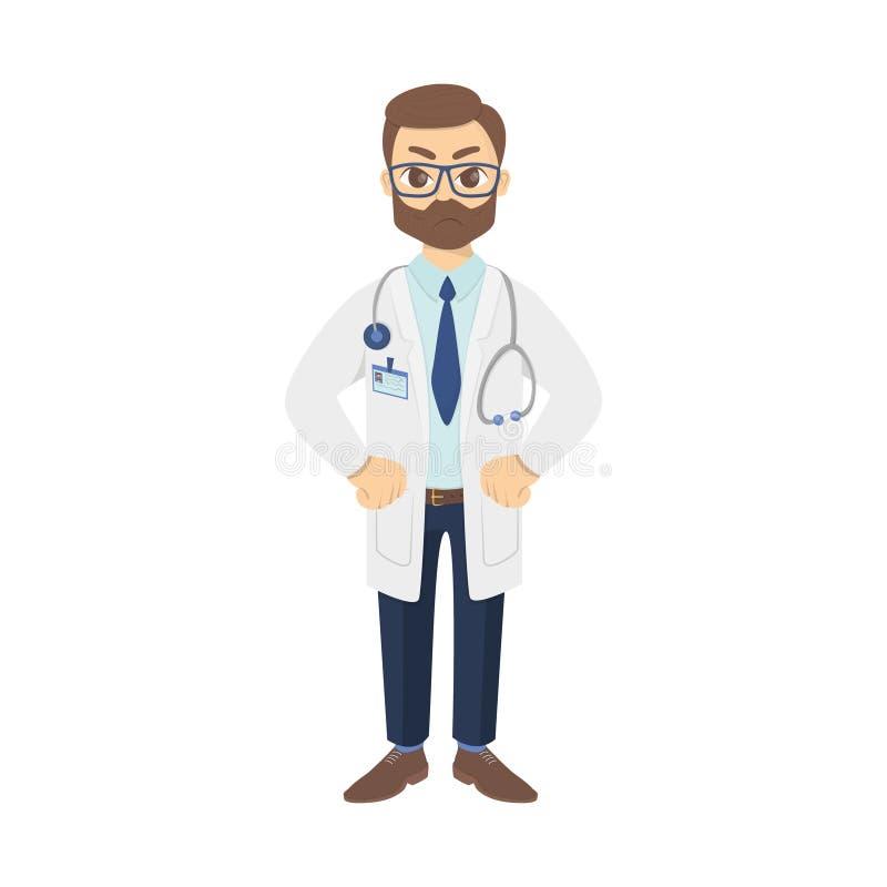 Απομονωμένος 0 γιατρός απεικόνιση αποθεμάτων