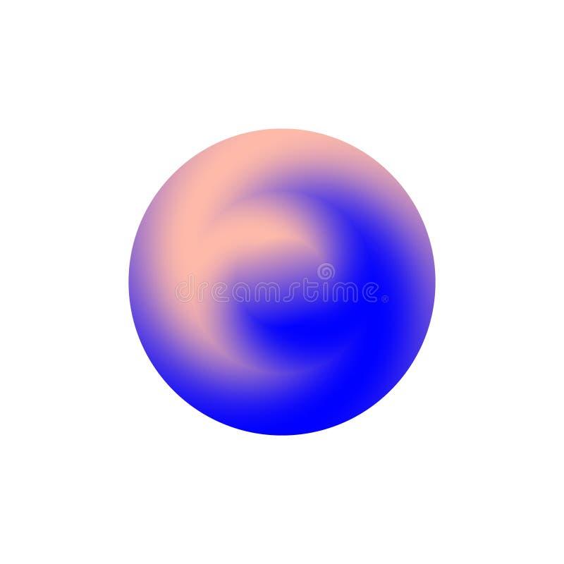 Απομονωμένος γύρω από το λογότυπο μορφής Μπλε ρόδινο χρώμα logotype ελεύθερη απεικόνιση δικαιώματος