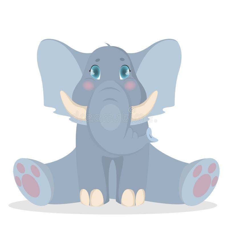 Απομονωμένος ελέφαντας μωρών διανυσματική απεικόνιση