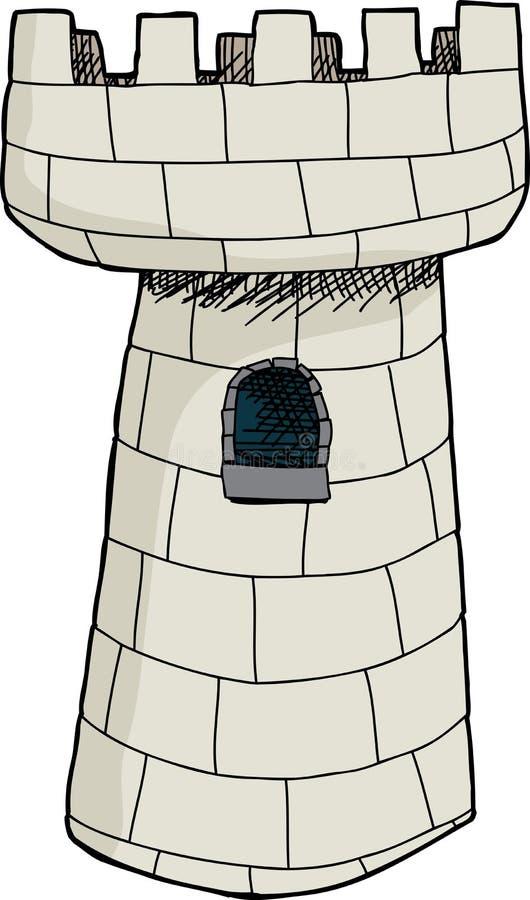 Απομονωμένος ενιαίος πύργος του Castle απεικόνιση αποθεμάτων