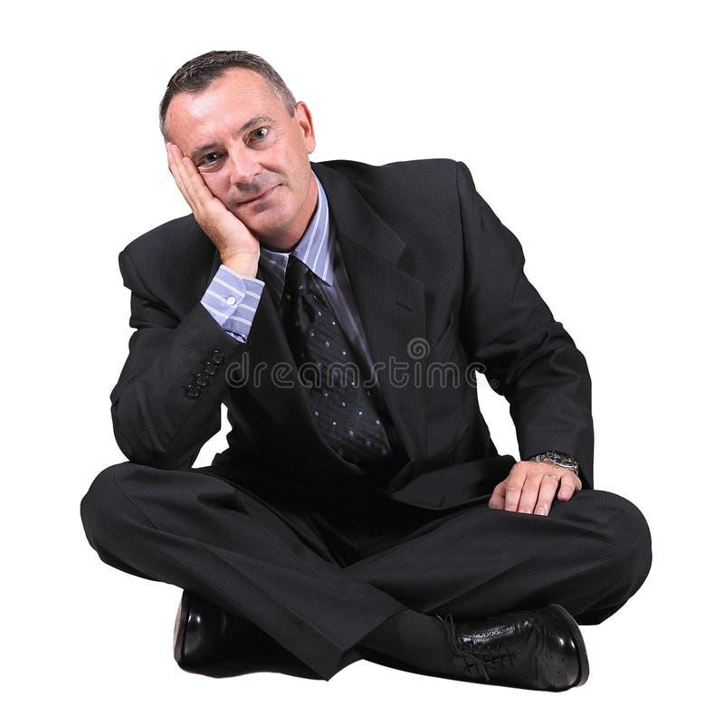 Απομονωμένος επιχειρηματίας στο άσπρο υπόβαθρο στοκ φωτογραφίες