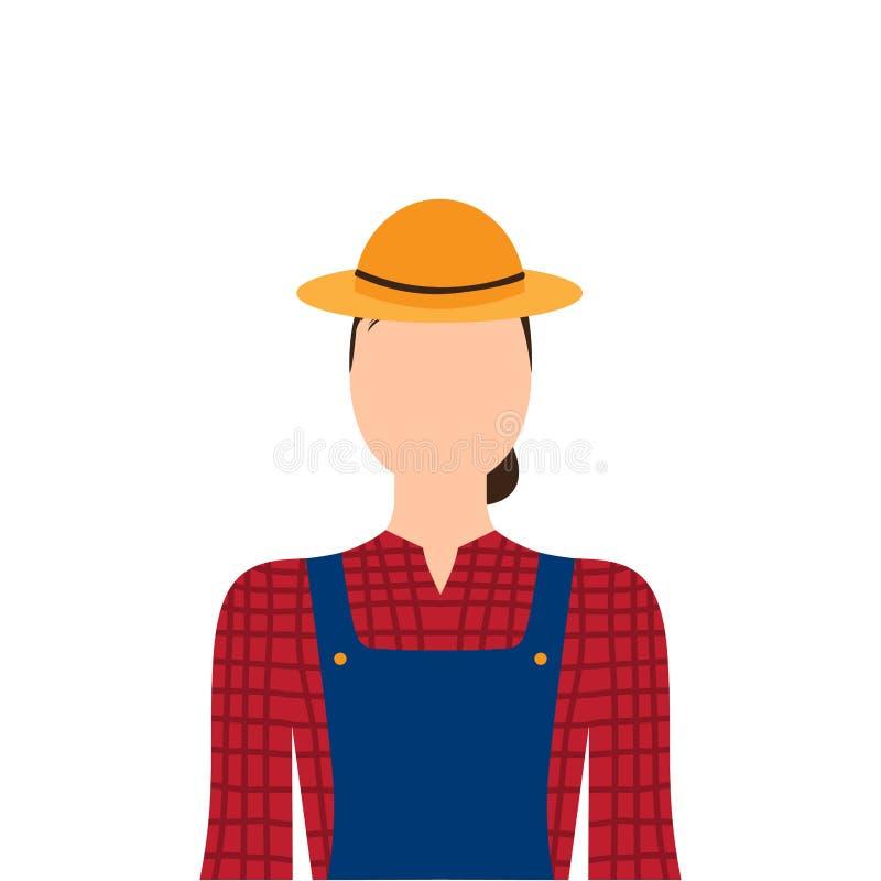 Απομονωμένος θηλυκός αγρότης απεικόνιση αποθεμάτων