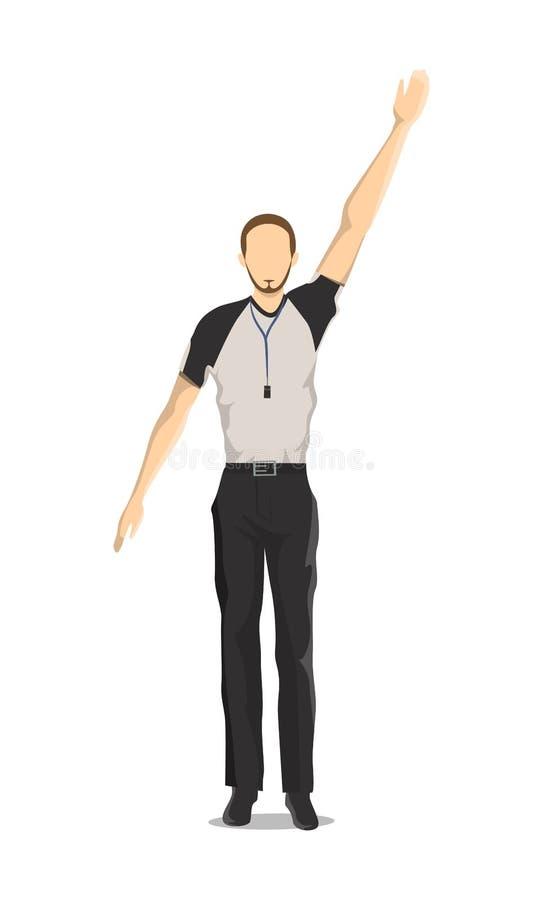 Απομονωμένος διαιτητής καλαθοσφαίρισης απεικόνιση αποθεμάτων