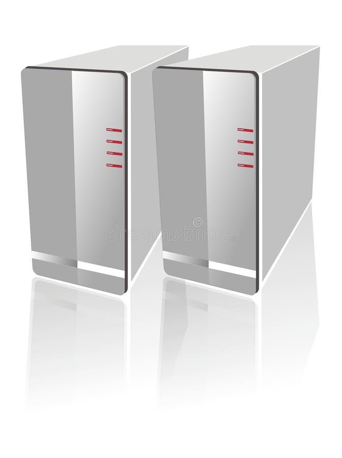 απομονωμένος κεντρικός υπολογιστής δύο λευκό ελεύθερη απεικόνιση δικαιώματος