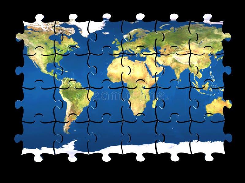 απομονωμένος κόσμος γρίφ&ome ελεύθερη απεικόνιση δικαιώματος