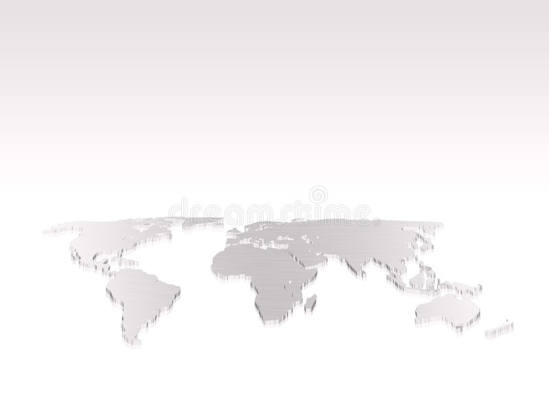 απομονωμένος κόσμος χαρτών διανυσματική απεικόνιση