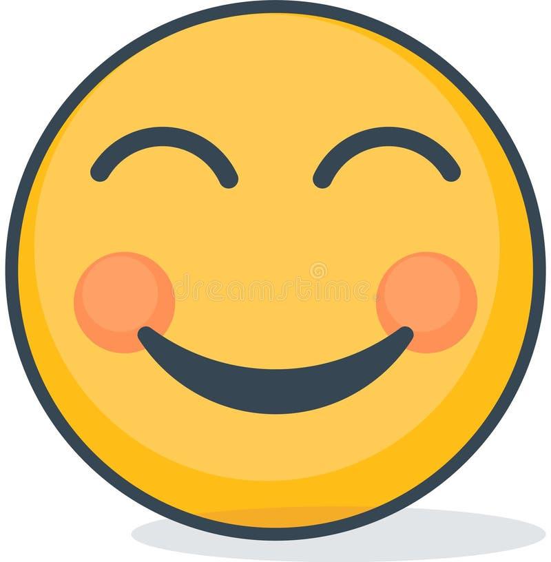 Απομονωμένος λάμψτε emoticon Απομονωμένος emoticon απεικόνιση αποθεμάτων