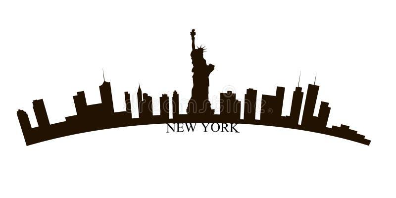 Απομονωμένος ορίζοντας πόλεων της Νέας Υόρκης διανυσματική απεικόνιση