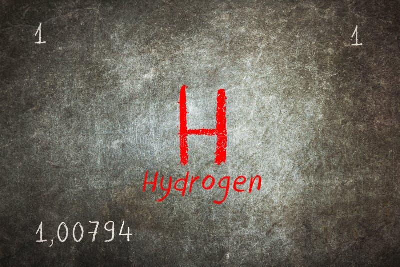 Απομονωμένος πίνακας με τον περιοδικό πίνακα, υδρογόνο διανυσματική απεικόνιση
