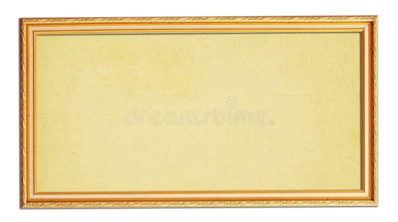 απομονωμένος πλαίσιο άσπρος ξύλινος φωτογραφιών στοκ εικόνα