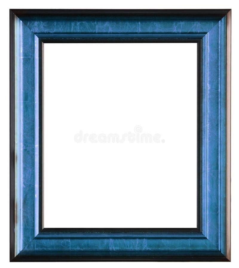 απομονωμένος πλαίσιο άσπρος ξύλινος φωτογραφιών στοκ εικόνες