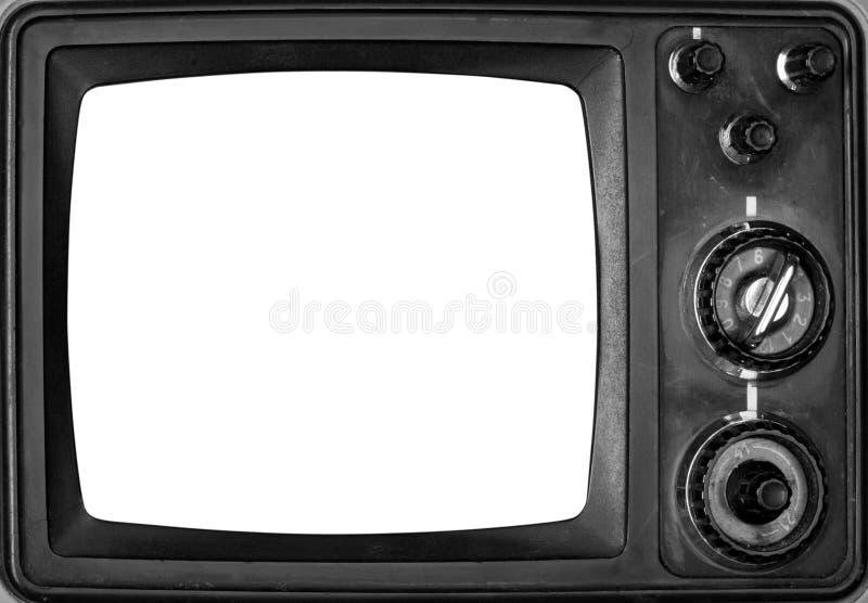 απομονωμένος τρύγος TV οθό&nu στοκ φωτογραφίες