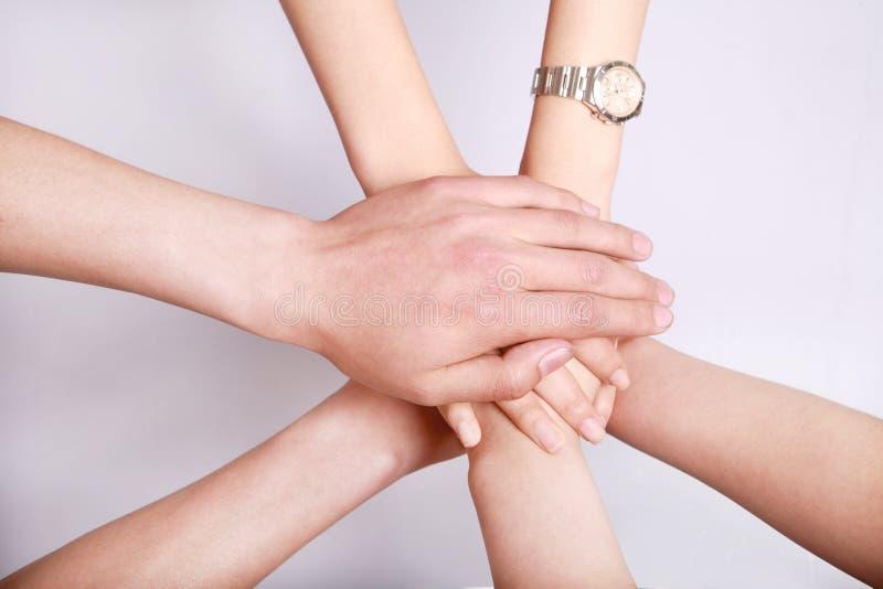 απομονωμένος χέρια σωρός στοκ φωτογραφίες
