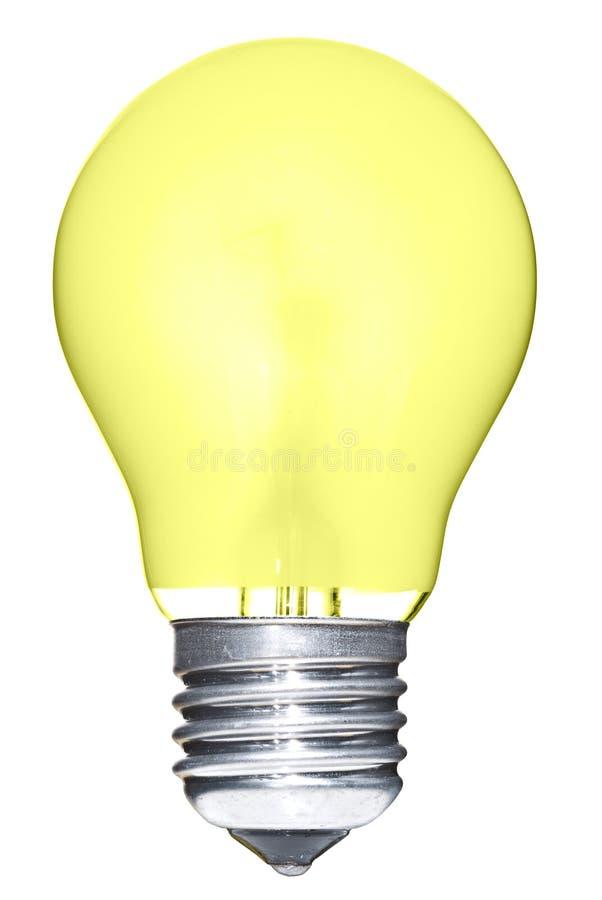 απομονωμένος lightbulb κίτρινος στοκ εικόνες με δικαίωμα ελεύθερης χρήσης