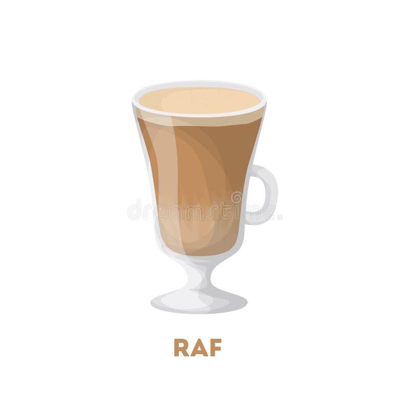 Απομονωμένος raf καφές απεικόνιση αποθεμάτων