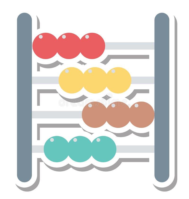 Απομονωμένο άβακας διανυσματικό εικονίδιο Editable ελεύθερη απεικόνιση δικαιώματος