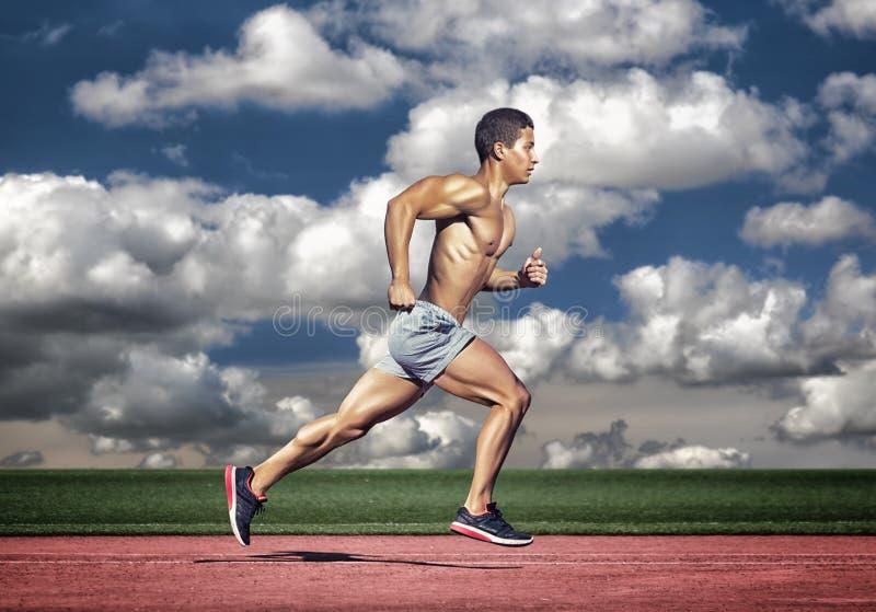απομονωμένο έννοια αθλητικό λευκό Άτομο δρομέων στοκ εικόνα