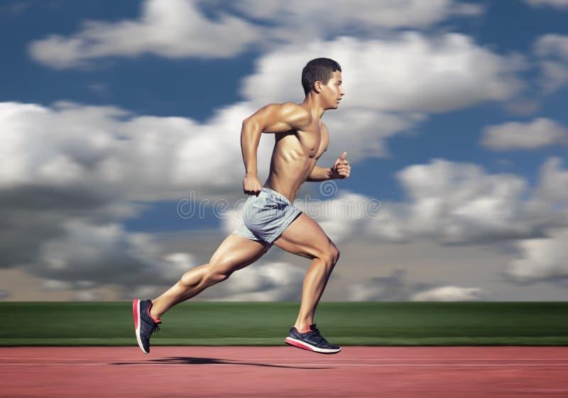 απομονωμένο έννοια αθλητικό λευκό Άτομο δρομέων στοκ εικόνα με δικαίωμα ελεύθερης χρήσης