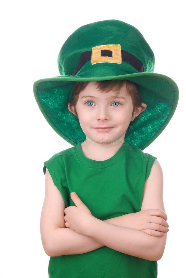 απομονωμένο αγόρι leprechaun λευ&ka στοκ φωτογραφίες με δικαίωμα ελεύθερης χρήσης